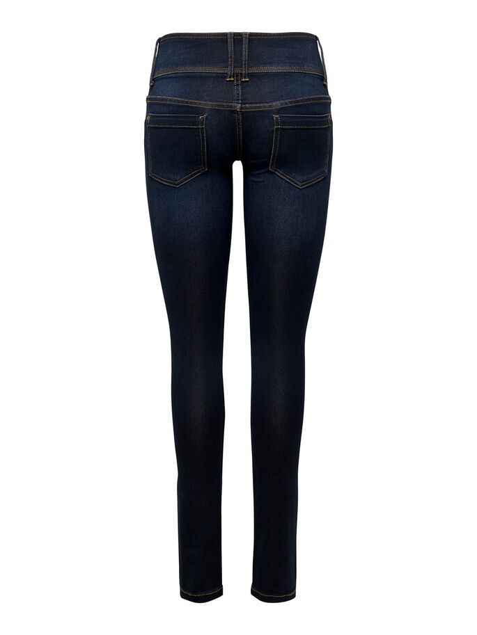 ANEMONE, WEICH SKINNY FIT JEANS, Dark Blue Denim, large