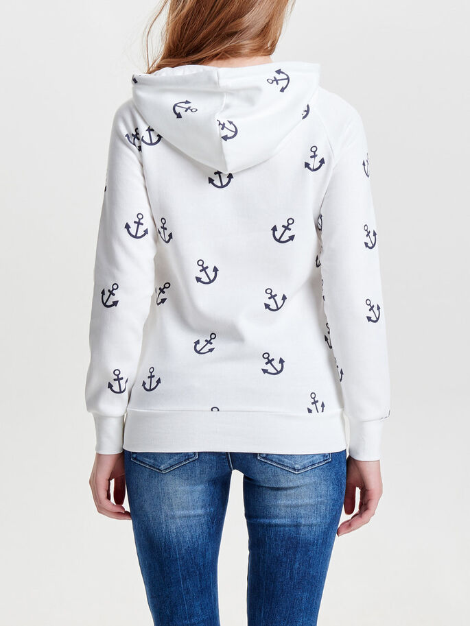 PRINT- SWEATSHIRT, Cloud Dancer, large