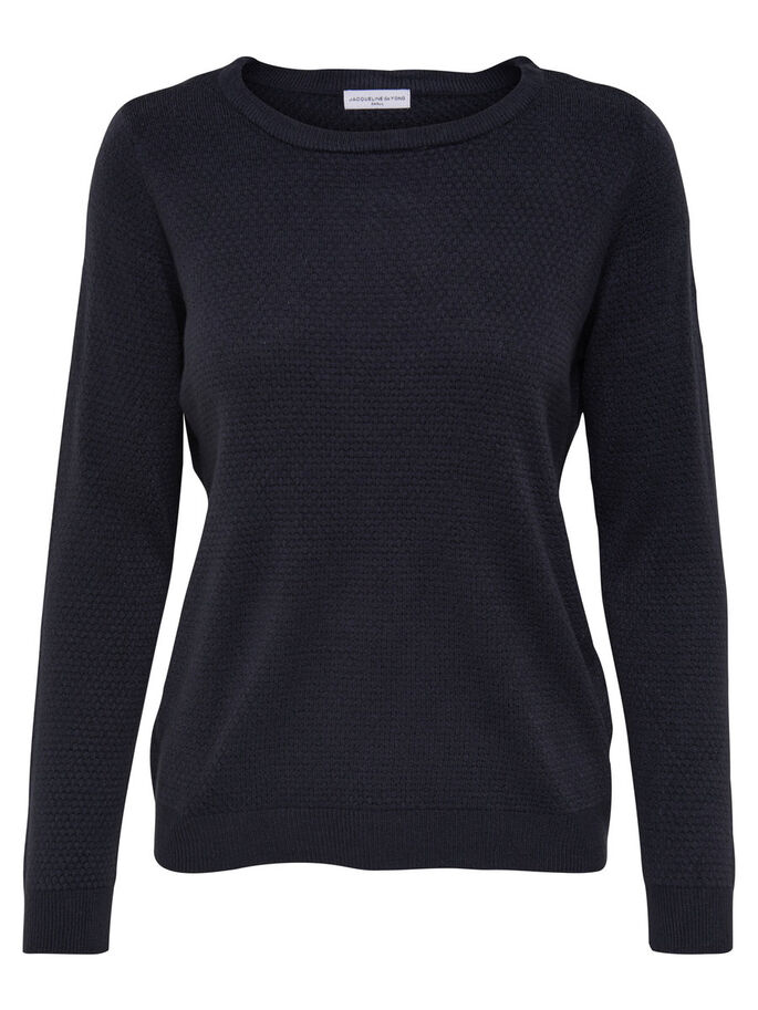 COULEUR UNIE PULL EN MAILLE, Sky Captain, large