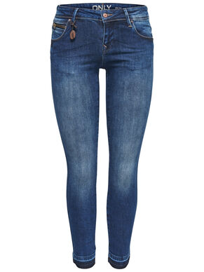 CORAL SUPERLOW ANKLE SKINNY FIT JEANS