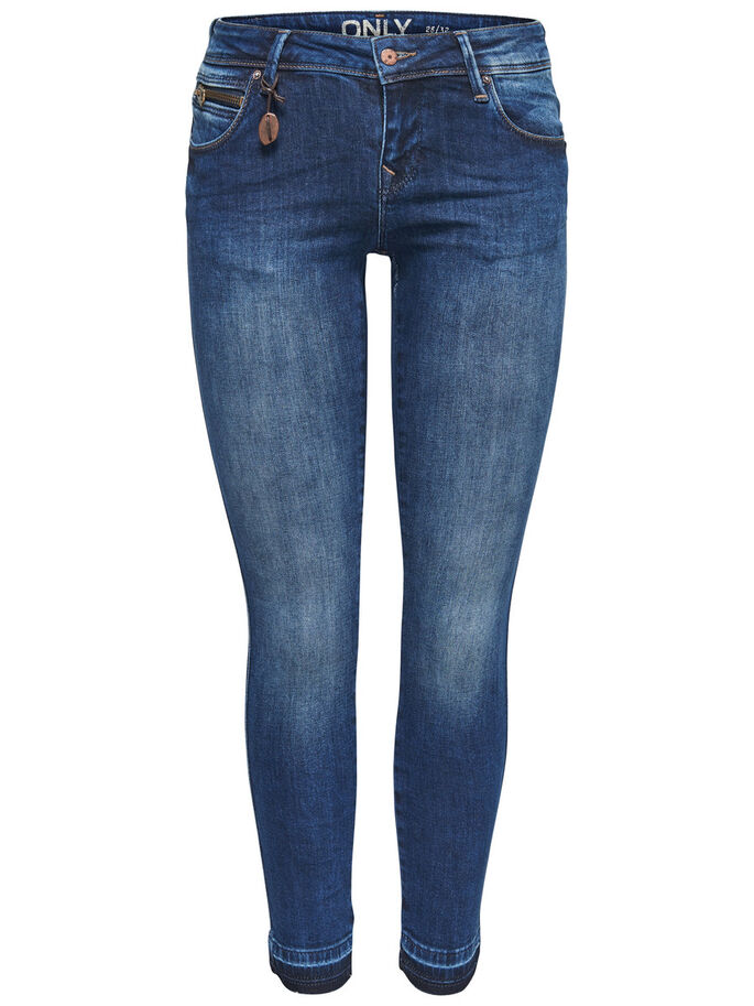 CORAL SUPERLÅGA ANKELLÅNGA SKINNY FIT-JEANS, Medium Blue Denim, large