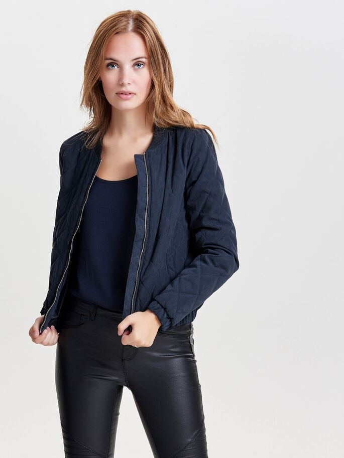 BOMBER QUILTED JACKET, Dark Navy, large