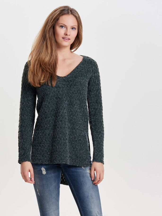 DETAILED KNITTED PULLOVER, Scarab, large