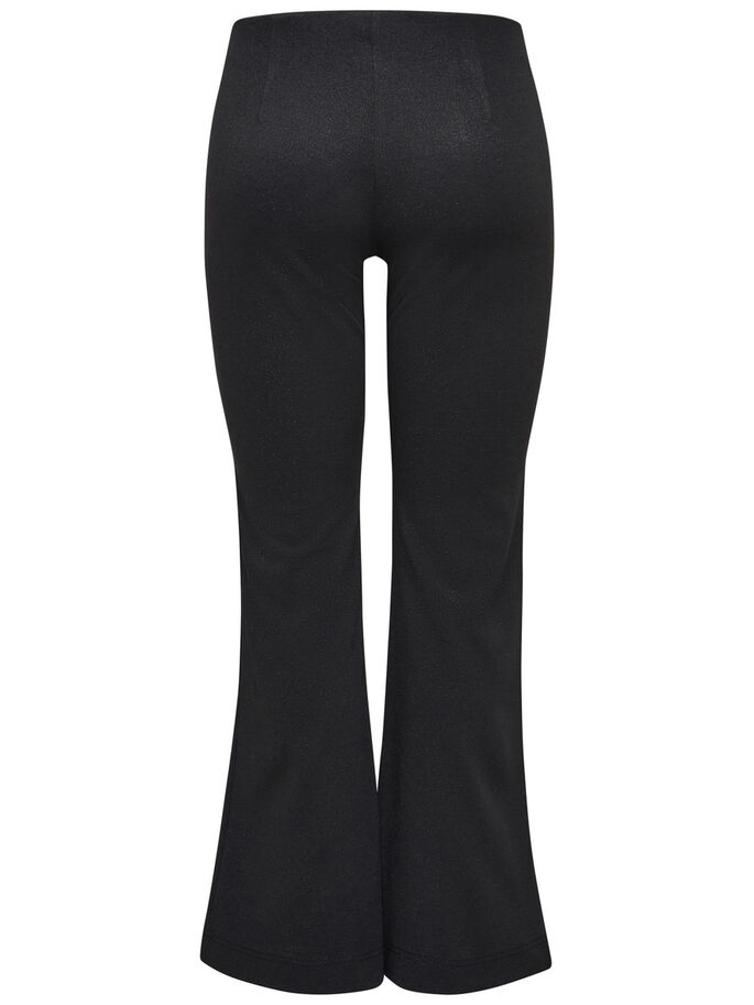 ANCHOS CON BRILLANTINA PANTALONES, Black, large