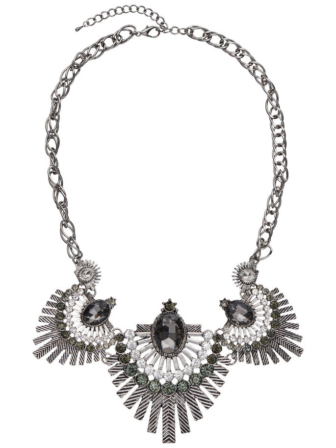 DETALLADO COLLAR, Silver Colour, large