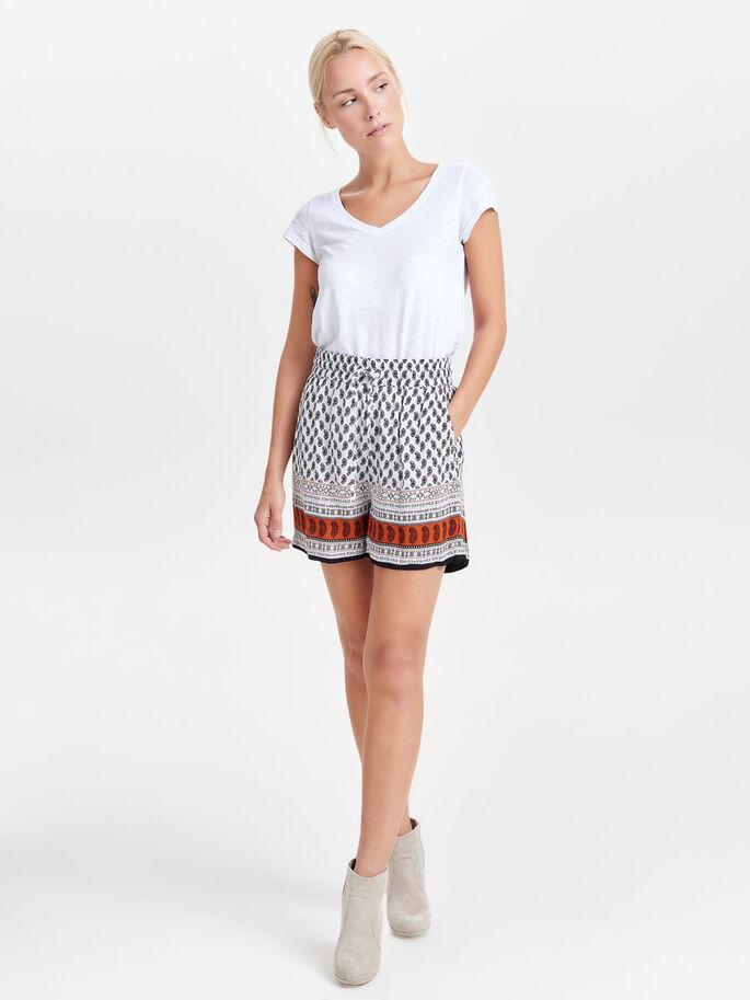 BEDRUCKTE SHORTS, Cloud Dancer, large