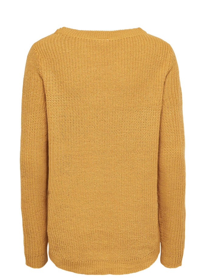 EINFARBIGER STRICKPULLOVER, Spruce Yellow, large