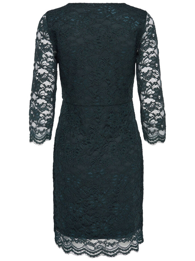LACE SHORT DRESS, Scarab, large