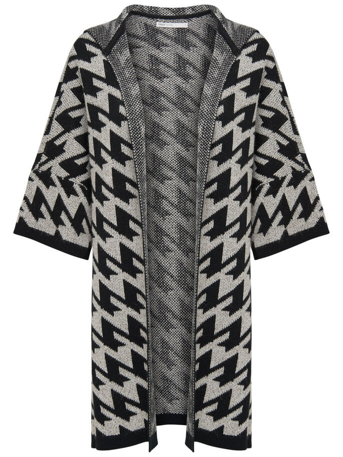 PATTERNED PONCHO, Pumice Stone, large