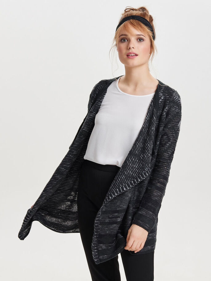 DRAPIERTER STRICK-CARDIGAN, Jet Set, large