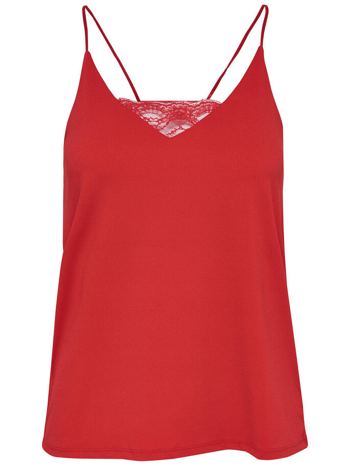 DETALJERET TOP, High Risk Red, large