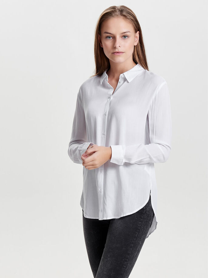 CLASSIC LONG SLEEVED SHIRT, Bright White, large