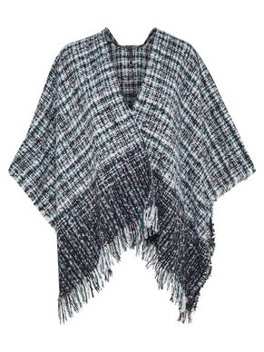 CONTRAST PONCHO