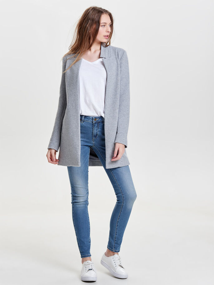 BLAZER- JACKE, Light Grey Melange, large