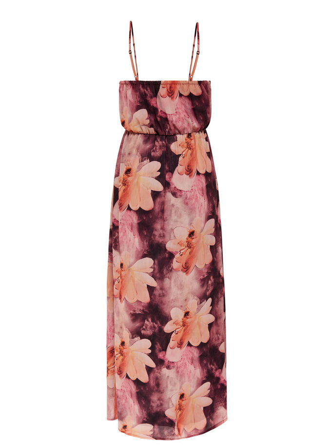 PRINTED MIDI DRESS, Deep Mahogany, large