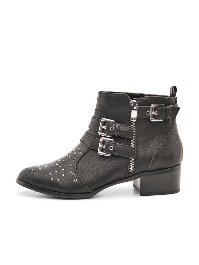 SHORT DETAILED BOOTS, Black, large