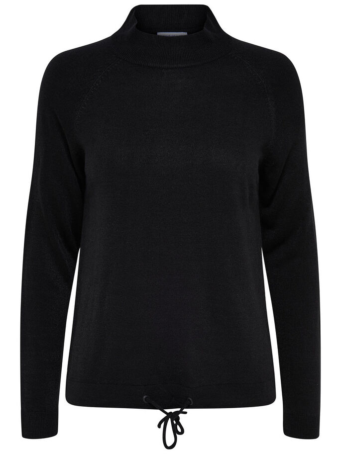 DETAILED TURTLENECK, Black, large