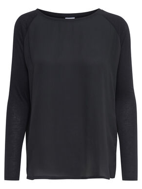 MIX LONG SLEEVED TOP