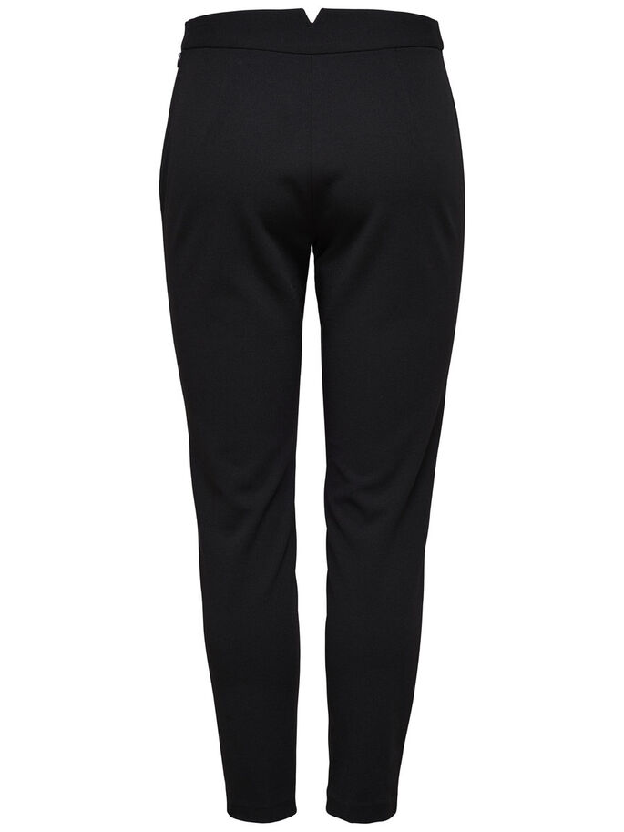 SLIM FITTED ANKLE TROUSERS, Black, large