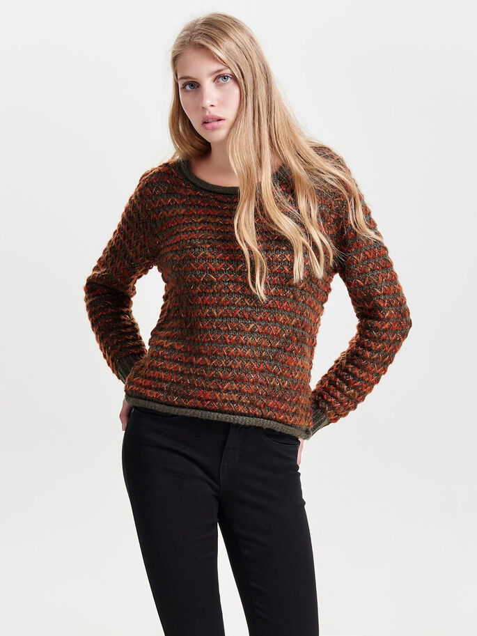 DETAILED KNITTED PULLOVER, Tarmac, large