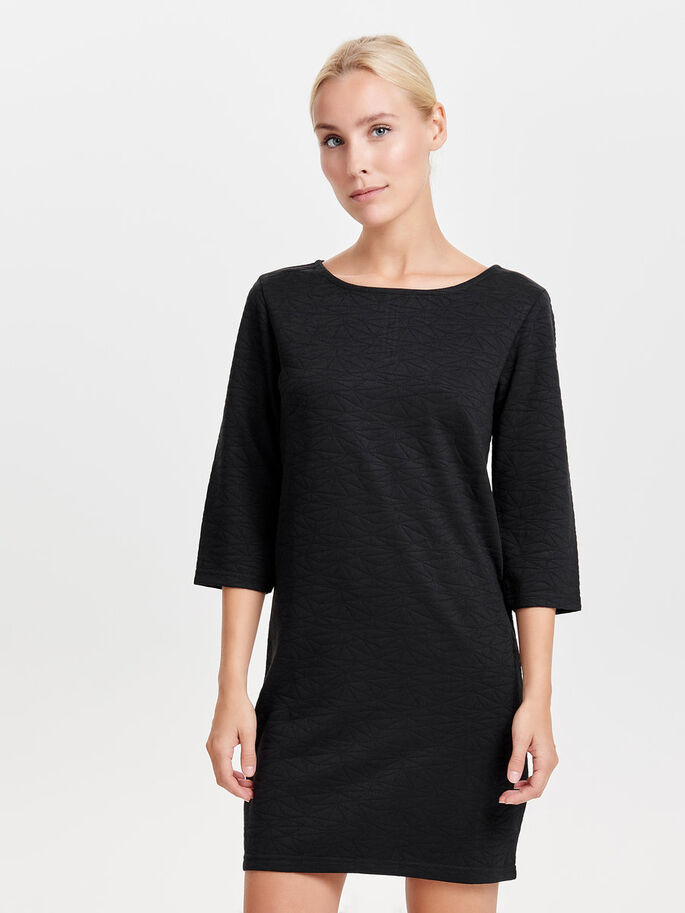 3/4-MOUW SWEATJURK, Black, large