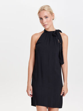 HALTERNECK SLEEVELESS DRESS