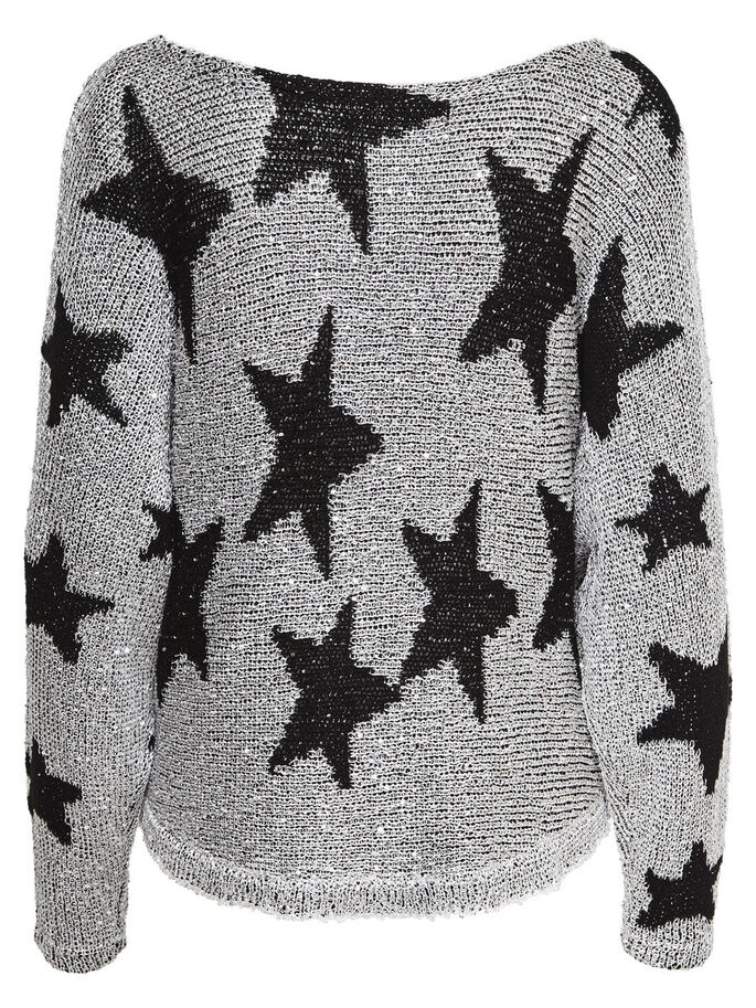 STAR- STRICKPULLOVER, Dark Silver Colour, large