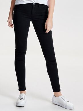 POSH HW BLACK CROP SKINNY FIT JEANS