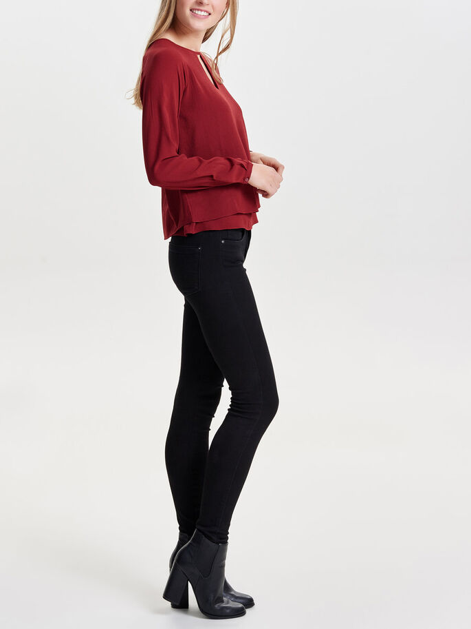 SOLID LONG SLEEVED TOP, Syrah, large