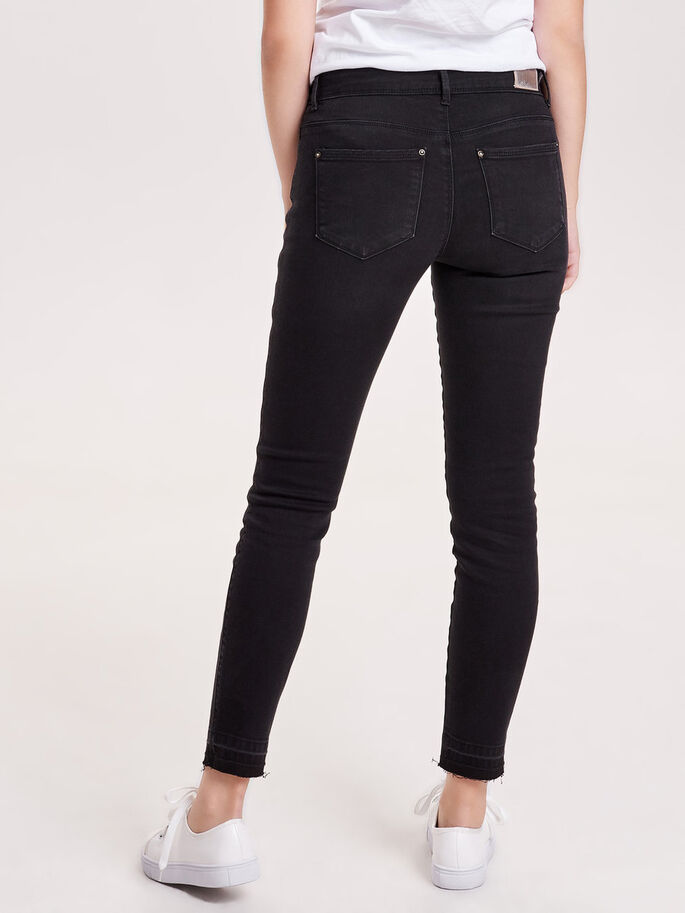 CARMEN REG ANKLE SKINNY FIT JEANS, Black, large