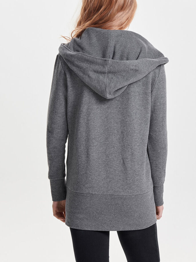 LANGES SWEATSHIRT, Dark Grey Melange, large