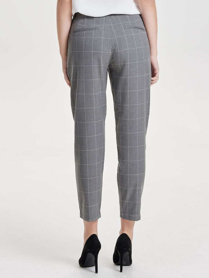 CHECKED TROUSERS, Medium Grey Melange, large