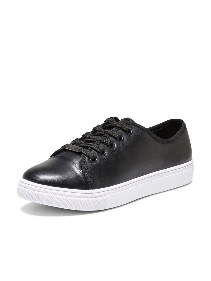 LACE-UP SNEAKERS, Black, large