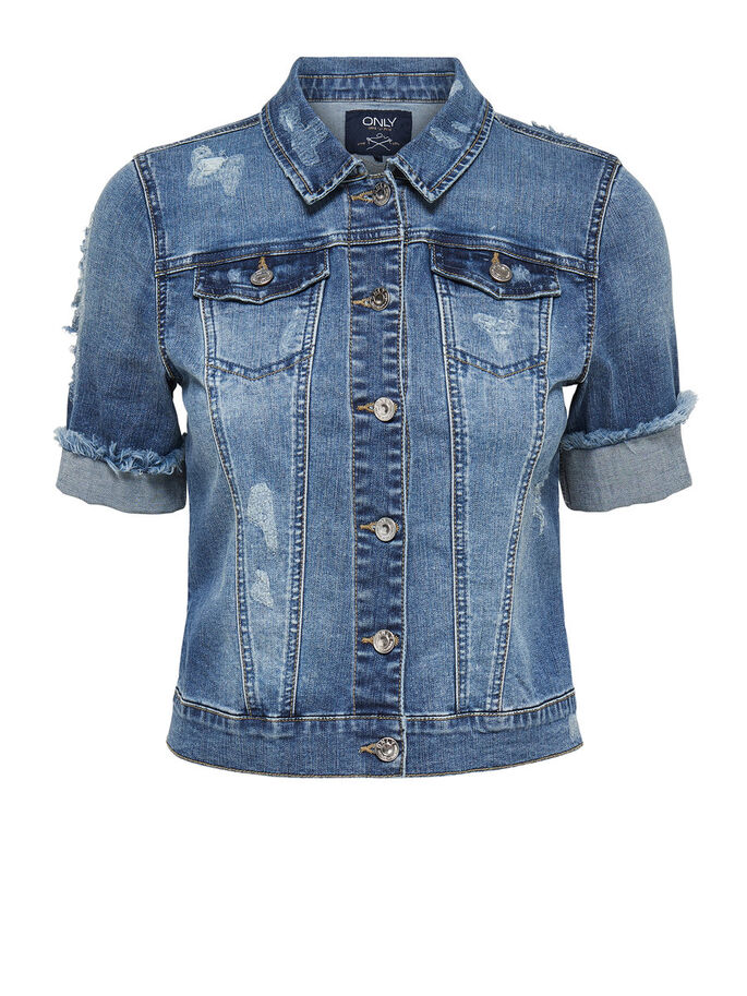 SHORT SLEEVES DENIM JACKET