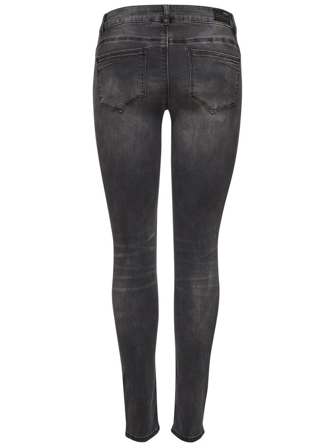 IZA REG STUDDED SLIM FIT JEANS, Dark Grey Denim, large