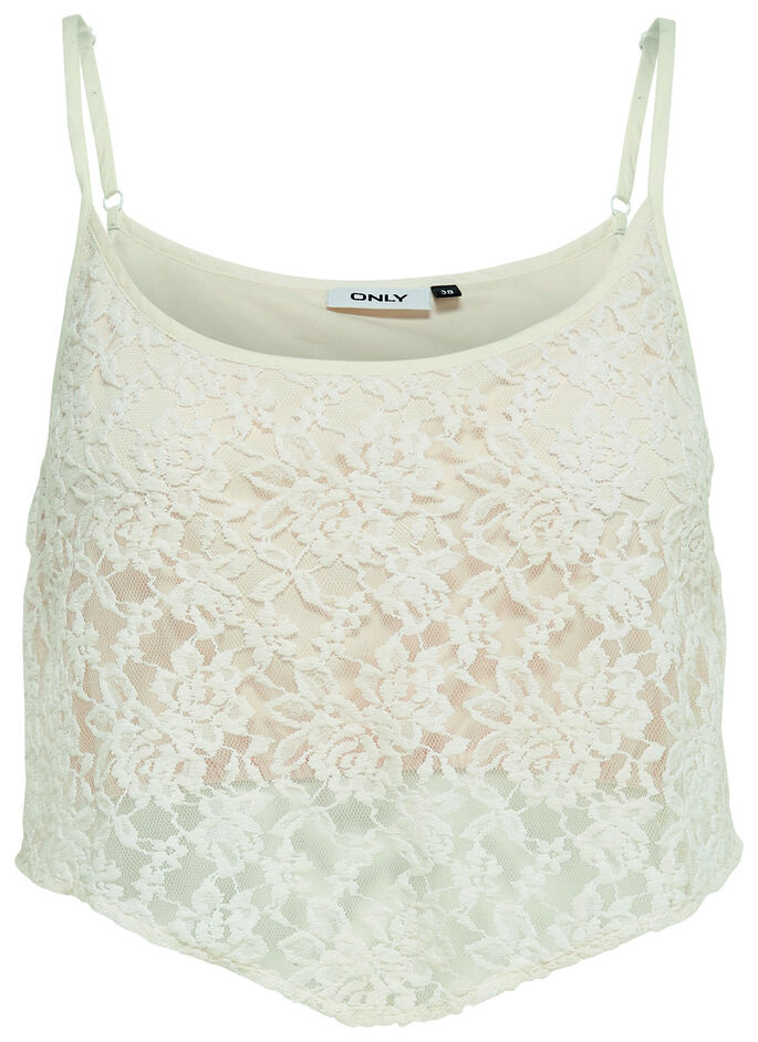 CROPPED SLEEVELESS TOP, Cloud Dancer, large