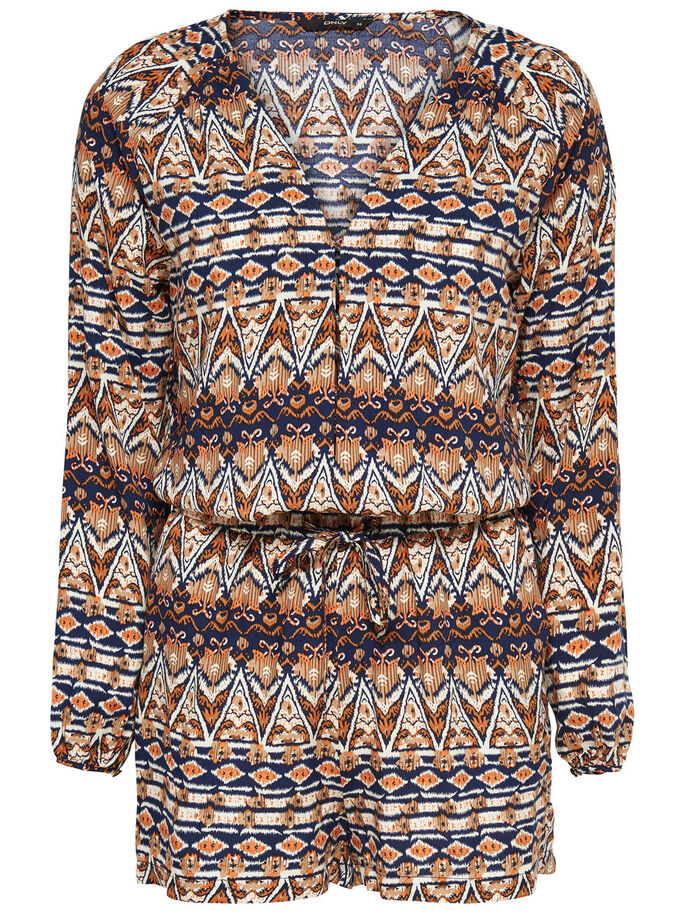 PRINTED PLAYSUIT, Papyrus, large