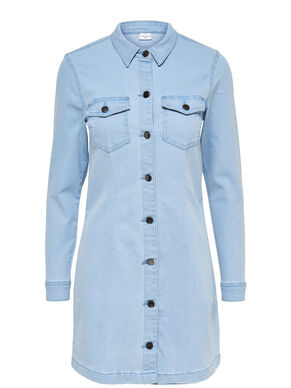 LONG SLEEVED DENIM DRESS