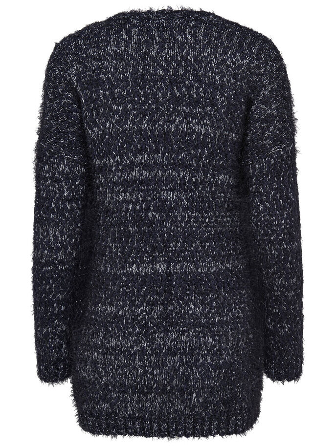 OUVERT CARDIGAN EN MAILLE, Night Sky, large