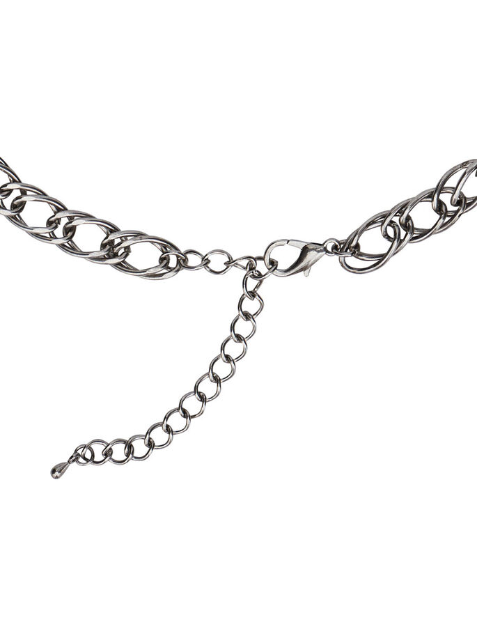 GEDETAILLEERDE KETTING, Silver Colour, large