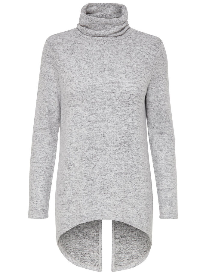LARGO JERSEY DE PUNTO, Light Grey Melange, large