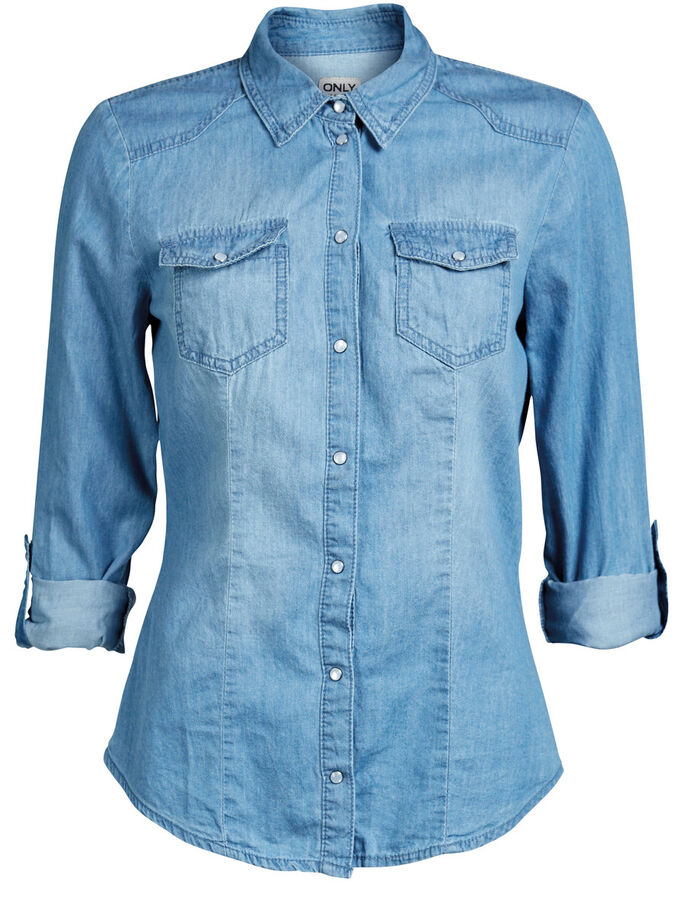DENIM SHIRT, DENIM, large