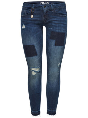 CORAL SL ANKLE PATCH SKINNY FIT JEANS