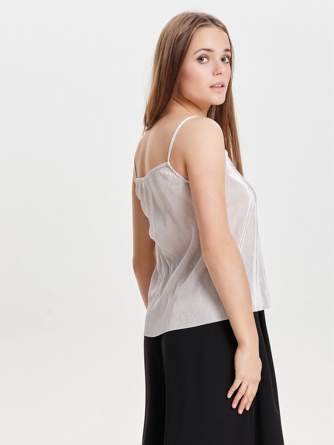 PLISADO TOP SIN MANGAS, Whitecap Gray, large