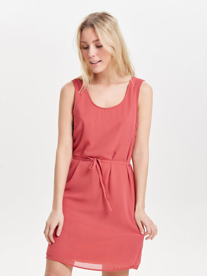 DETAILED SLEEVELESS DRESS, Faded Rose, large