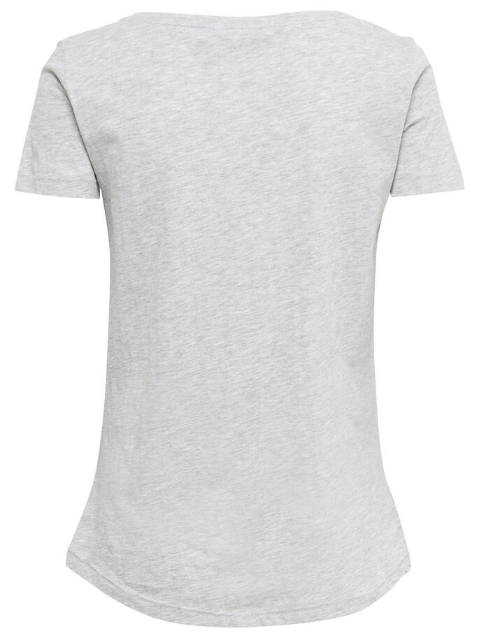 TRYCKT T-SHIRT, Light Grey Melange, large