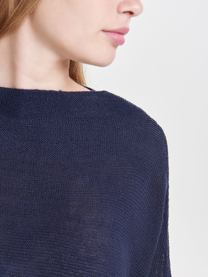 LOOSE KNITTED PULLOVER, Sky Captain, large