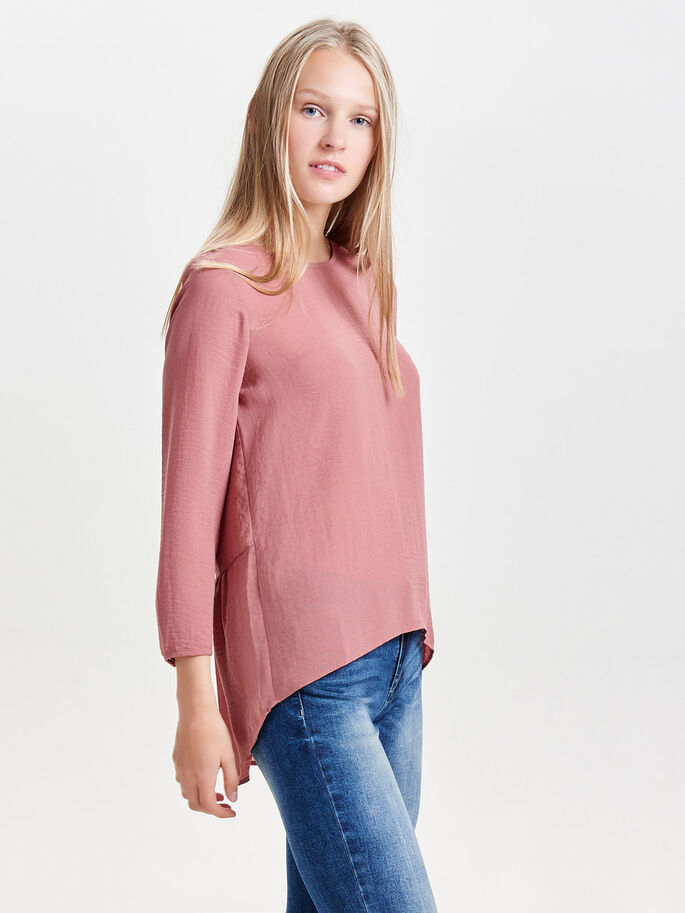 LACE LONG SLEEVED TOP, Withered Rose, large