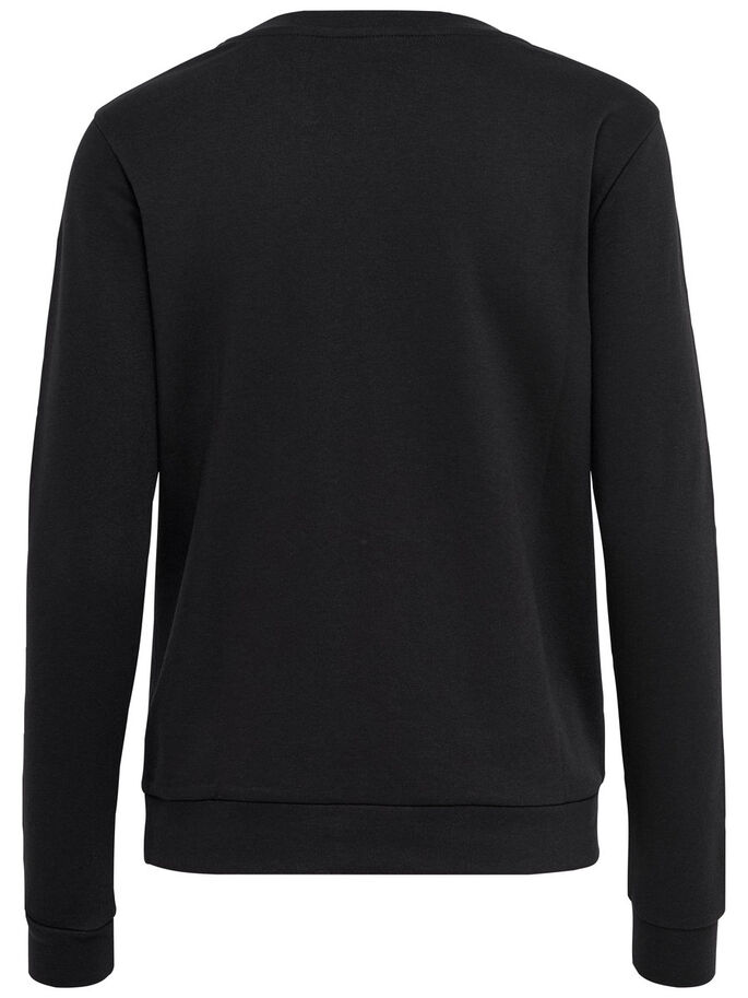 TRYCKT SWEATSHIRT, Black, large