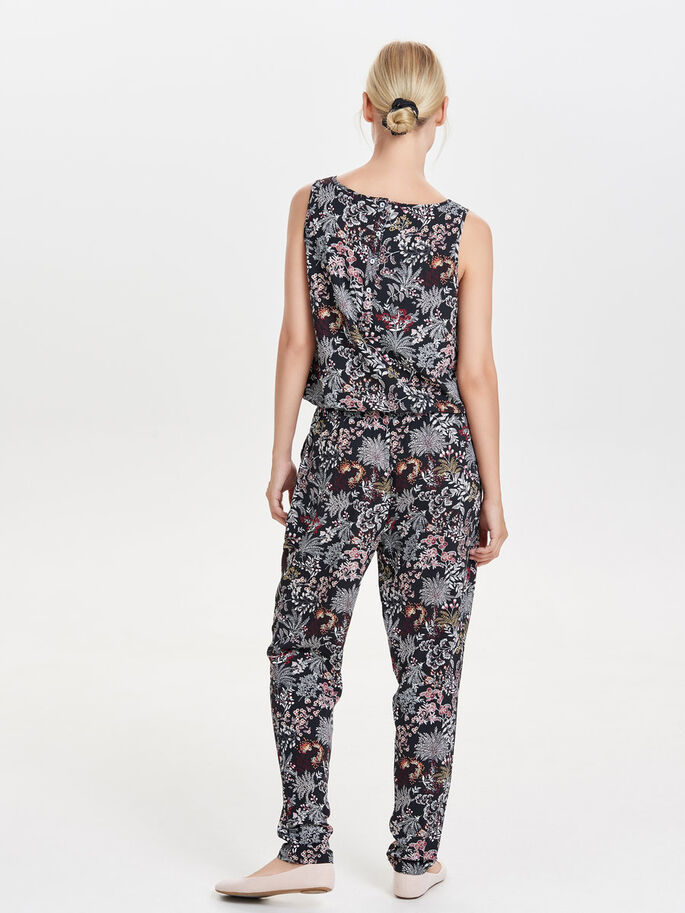 PRINT JUMPSUIT, Black, large